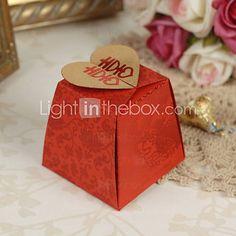 Floral estilo asiático Red Boxes favor do casamento - conjunto de 12 de 975190 2016 por R$15,20
