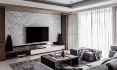 argument about modern tv feature wall interiors 31 Living Room Modern, Living Room Interior, Home Living Room, Living Room Decor, Tv Feature Wall, Living Room Tv Unit Designs, Muebles Living, Apartment Design, Luxury Living