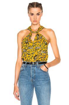Shop for Isabel Marant Etoile Acan Rasta Flower Top in Yellow at FWRD. Ankara Clothing, Isabel Marant, Tank Tops, Yellow, Chic, Flower, Clothes, Shopping, Image