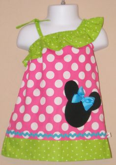 Disney Minnie Mouse Inspired - Minnie's BOW TIQUE - Baby Toddler Dress - Ruffled One Shoulder Dress -Great for Disney Trips and Birthdays. $38.00, via Etsy.