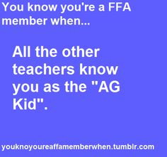 Sad but true... Mr. Murphy has probably forgotten my name and just calls me farmer.