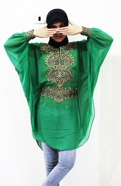 Green Leaf Tunic Dress Traditional Georgeous Style by aboyshop, $33.99