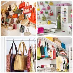 papo serio demulher: Como organizar suas bolsas!
