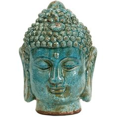 Buddhist Home Decor | Buddha Head Statue | Buddhist Art (11.525 HUF) ❤ liked on Polyvore featuring home, home decor, fillers, decor, misc, stuff, buddha head statue, blue home decor, zen home decor and buddha home decor