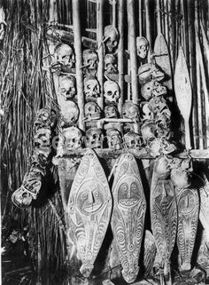 North Pacific -- Tiki Central.  Looks like an early photo from the Gulf of Papua, New Guinea.