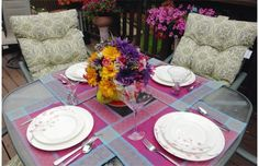 Debbie Penner's back yard for QC Spaces  . . . love my HomeSense finds!