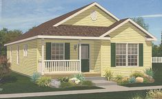 "(Pennwest Homes Model: HR110-A)  LOVE the front porch. Want this as the ""side porch"" on our new home"