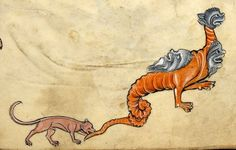 Biting the monster's tail 'The Rutland Psalter', England ca. 1260