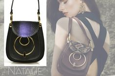 With snakeskin and over-sized accessory, the Natalie shoulder bag is a practical and exquisite accessory for women @w