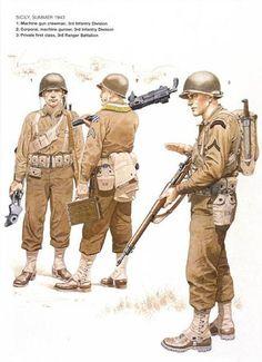 1//6 Scale-Gi Joe Action Figures Airborne Pistolets mitrailleurs-Thompson machine gun