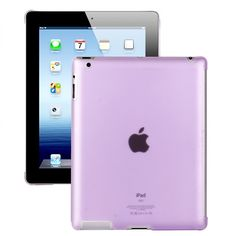 Hyaline - Smart Cut Deksel (Gjennomsiktig Lilla) iPad 2 Deksel