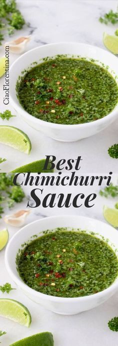 Best Argentinian Style Chimichurri Sauce with Parsley, Garlic and Oregano | CiaoFlorentina.com @CiaoFlorentina