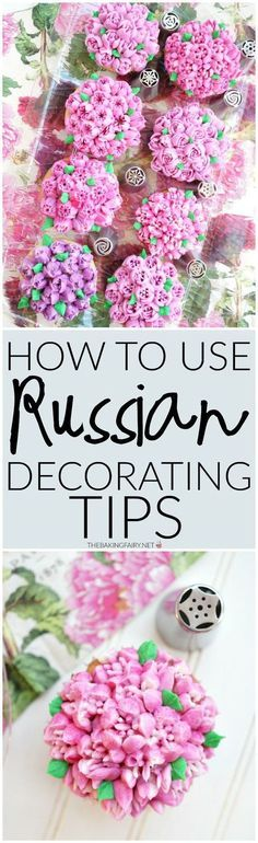 russian decorating tips 101 | The Baking Fairy Frosting Techniques, Frosting Tips, Cupcake Frosting, Frosting Recipes, Cupcake Toppers, Cupcake Cakes, Buttercream Frosting, Fondant Cakes, Fun Cakes