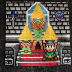 Legend of Zelda - Triforce perler bead art by operledittemarie