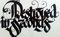 Hand lettering at it's finest. Neils Shoe Meulman