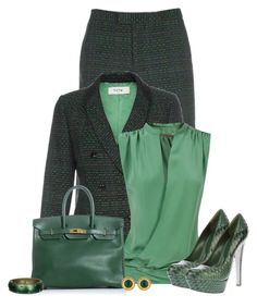 ~ROCKING THE TWEED SUIT IN 2014~ by marion-fashionista-diva-miller on Polyvore featuring polyvore fashion style Balenciaga Paul Smith Sergio Rossi Hermès Alexis Bittar Chanel women's clothing women's fashion women female woman misses juniors