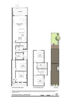 18 Flood Street, Leichhardt. 4 bedrooms - two up, two down - similar size to us.