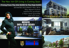 """ATTENTION EVERYONE"" The Exclusive Brand New Urban Townhomes Coming in East Toronto on Saturday May 28th and Sunday June 4th & 5 th From 12am to 5pm Register Today for Platinum/VIP Access call Meher from G1 905-550-8589 Starting from mid $ 200 occupancy in the Fall of 2018, you'll fall in love with Scarborough and all the conveniences of living in East Toronto, with access to Toronto's best nature areas,  Call Meher from G1 906-550-8589"