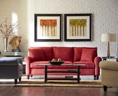 Love the pop of color...Amalfi, Living Rooms   Havertys Furniture