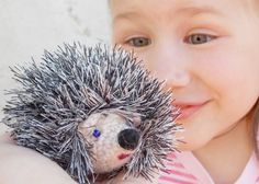 Crochet hedgehog  Crochet toy  tiny hedgehog by RainbowHappiness