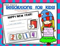 New Year's Resolutions for Kids {Perfect for Kindergarten and First Grade.} 2 different versions included - pick the one you like for your kiddos! $
