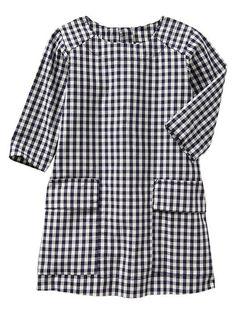 Gingham pocket shift dress Product Image get for both