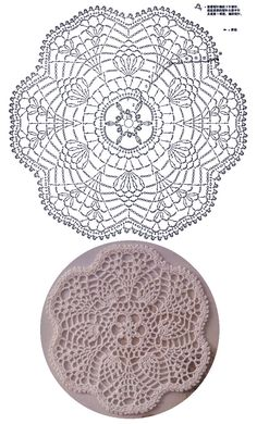 [파인애플도일리] 아름다운 파인애플 레이스 도일리 무료도안 Crochet Mandala Pattern, Crochet Circles, Crochet Blocks, Crochet Flower Patterns, Crochet Diagram, Crochet Round, Crochet Home, Crochet Designs, Crochet Tablecloth