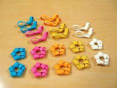 TANTANまつ子の手作り大好き♪:やめられない、止まらない☆ こんなに作っちゃった~♪ 3d Origami, Basket Weaving, Knots, Objects, Ribbon, Beads, Create, Eco Craft, Crafts
