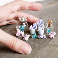 Almost ready for tonight's shop update GMT, EST, PST). Fimo Kawaii, Polymer Clay Kawaii, Polymer Clay Dragon, Polymer Clay Figures, Polymer Clay Animals, Polymer Clay Miniatures, Polymer Clay Charms, Polymer Clay Creations, Polymer Clay Art