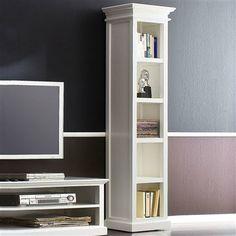 Sandhurst Tall Narrow Bookcase, White