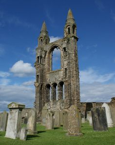 Ruins Cathedral St Andrews Scotland