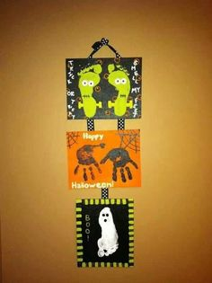 Halloween Crafts To Do With Kids Theme Halloween, Halloween Crafts For Kids, Halloween Activities, Halloween Projects, Holidays Halloween, Holiday Crafts, Holiday Fun, Halloween Decorations, Halloween Prints