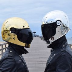"Be the first to get this Tankfarm Exclusive helmet made by Bell. These limited edition New Custom ""Silver Bullitt"" & ""Gold Bullitt"" are inspired by one of our favorite artists. ORDER NOW and yours will ship July Motorcycle Helmet Design, Cafe Racer Motorcycle, Motorcycle Style, Motorcycle Helmets, Bike Style, Moto Style, Riding Gear, Riding Helmets, Moto Car"
