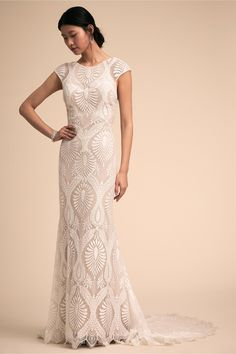 BHLDN s Ludlow Gown in Nude ivory  weddingdresses Wedding Dress Pictures 943cc0e69202
