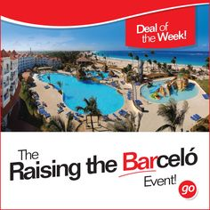 #DealOfTheWeek   The Raising the Barceló Event! Barceló Hotels & Resorts  Book by Apr. 29 and receive a FREE UPGRADE*.  #TravelDeals #Deals #Travel #FreeUpgrade #Barcelo