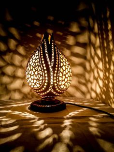 100 Handmade Gourd Lamp Turkish Lamp Hanukkah Eid Wedding Anniversy Birthday Halloween Gift Idea Art Deco Moroccan Bohemian Shadow Lamp - pinupi love to share Bohemian Lamp, Wood Burning Techniques, Turkish Lamps, White Light Bulbs, Art Deco, Gourd Lamp, Tantra, Halloween Gifts, Light Art