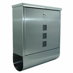 Postbox Mail Newspaper Holder Stainless Steel Silver Wall Mounted New By Arboria | eBay