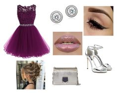 """purple luxury"" by ana-zigne on Polyvore featuring Jimmy Choo, Crislu and Dolce&Gabbana"