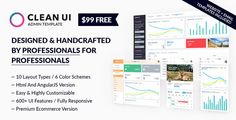 Clean UI Admin Template Classic + Material Design + Landing Pages + AngularJS Starter Kit
