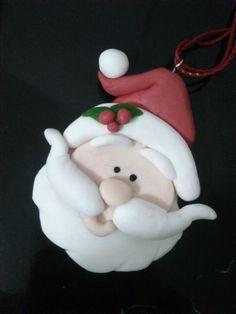 Pingente, para arvore de Natal, papai noel. biscuit