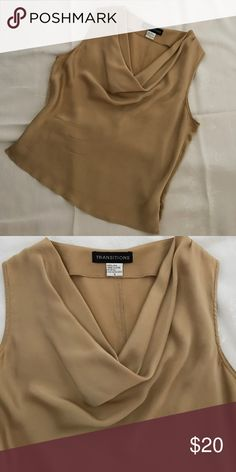 Transitions blouse 100% silk, size 4 Excellent condition. transitions Tops Blouses