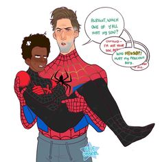 Finally watched Into the Spiderverse! Ms Marvel, Marvel Jokes, Marvel Funny, Marvel Art, Marvel Dc Comics, Marvel Avengers, Spideypool, Superfamily, Amazing Spiderman