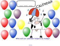 Smartboard calendar ideas