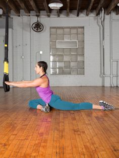 5. Half Pigeon #trx #yoga http://greatist.com/move/trx-yoga-workout