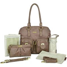 cefe23f4e66a Timi   Leslie Faux Leather Baby Diaper Bag Rachel Taupe NEW TL-221-01TP