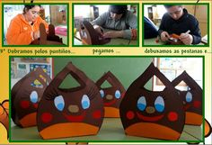 O vindeiro xoves celebraremos no cole a festa do MAGOSTO (ou CASTAÑADA como lle chaman noutros lugares). Durante a semana estivemos a prep. Projects For Kids, Crafts For Kids, Arts And Crafts, Autumn Crafts, Toilet Paper Roll, Craft Activities, Preschool, Kids Rugs, Halloween