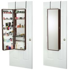 Over-the-door beauty armoire and makeup organizer ($213.99). Organize your makeup, brushes, nail polish and more.