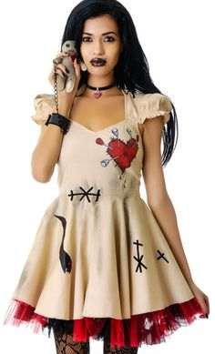 Halloween Costume Girl's Women Cosplay Dress Voodoo Doll Costumes for Adults&Child Fancy Dress Ball - Top 10 Halloween Costumes, Halloween Cosplay, Halloween Diy, Women Halloween, Halloween Makeup, Voodoo Halloween, Halloween Outfits, Halloween Halloween, Vintage Halloween