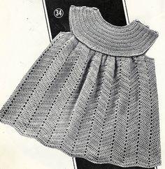 Robe layette au crochet Plus