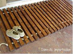 DIY Wood Floor Mat